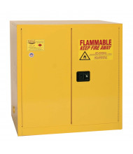 Eagle 1964 Manual Two Door Flammable Safety Cabinet, 60 Gallons, Yellow