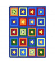Joy Carpets Sitting Stars Rectangle Classroom Rug