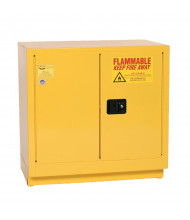 Eagle 1971 Manual Two Door Flammable Safety Cabinet, 22 Gallons, Yellow