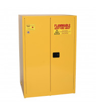 Eagle 1992 Manual Two Door Flammable Safety Cabinet, 90 Gallons, Yellow