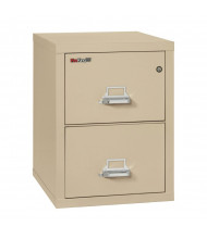"FireKing 2-Drawer 25"" Deep 1-Hour Rated Fireproof File Cabinet, Letter - Shown in Parchment"