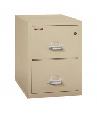 "FireKing 2-Drawer 31"" Deep 1-Hour Rated Fireproof File Cabinet, Letter - Shown in Parchment"