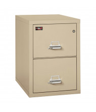 "FireKing 2-Drawer 31"" Deep 2-Hour Rated Fireproof File Cabinet, Letter - Shown in Parchment"