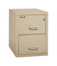 "FireKing 2-Drawer 31"" Deep 1-Hour Rated Fireproof File Cabinet, Legal - Shown in Parchment"