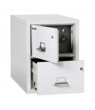 "FireKing Safe-In-A-File 2-Drawer 31"" Deep 1-Hour Rated Fireproof File Cabinet, Legal (Shown in Arctic White)"