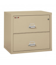 "FireKing Standard 2-3122-C 2-Drawer 31"" Wide Lateral Fireproof File Cabinet - Shown in Parchment"