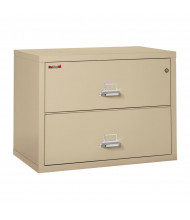 "FireKing 2-Drawer 38"" Wide 1-Hour Rated Lateral Fireproof File Cabinet - Shown in Parchment"