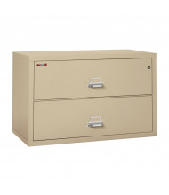 "FireKing 2-Drawer 44"" Wide 1-Hour Rated Lateral Fireproof File Cabinet - Shown in Parchment"