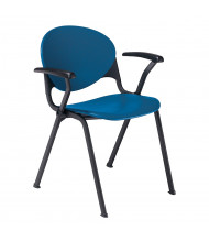 KFI Seating 2000-T T-Arm Polypropylene Stacking Chair (Shown in Navy Blue)