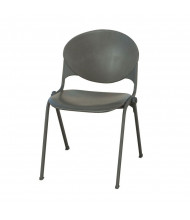 KFI Seating 2000 Polypropylene Steel Stacking Chair (Charcoal)