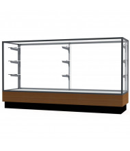 "Waddell Merchandiser 2010-6 Series Store Retail Counter Display Case 72""W x 40""H x 20""D (Shown in Light Oak/Satin Natural)"