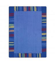 Joy Carpets Seeing Stripes Rectangle Classroom Rug, Rainbow