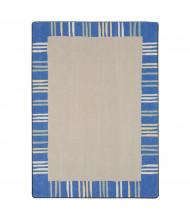 Joy Carpets Seeing Stripes Rectangle Classroom Rug, Pastel
