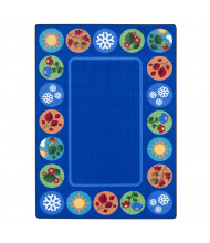 Joy Carpets Sit Around the Seasons Rectangle Classroom Rug