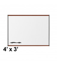 Best-Rite 202OC-03 Origin Board Mahogany Trim 4 ft. x 3 ft. Porcelain Magnetic Whiteboard