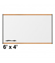 Best-Rite 202OG-02 Origin Board Medium Oak Trim 6 ft. x 4 ft. Porcelain Magnetic Whiteboard