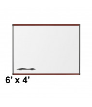 Best-Rite 202OG-03 Origin Board Mahogany Trim 6 ft. x 4 ft. Porcelain Magnetic Whiteboard