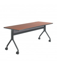 "Safco Rumba 2038 72"" W x 30"" D Nesting Training Table (Cherry/Black Leg)"