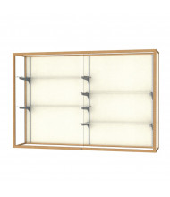 "Waddell Champion 2040-6 Series Wall Mountable Display Case 72""W x 48""H x 16""D (plaque back/champagne gold)"
