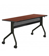 "Safco Rumba 2042 60"" W x 24"" D Nesting Training Table in Cherry Top/Black Leg"