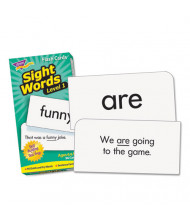 "Trend Sight Words Set 1 Skill Drill Flash Cards, 3-3/8"" x 6-1/4"", 96/Pack"