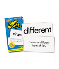 "Trend Sight Words Set 3 Skill Drill Flash Cards, 3-3/8"" x 6-1/4"", 98/Pack"