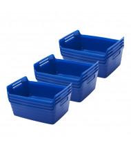 ECR4Kids Small Bendi-Bin Plastic Storage Bin, 12-Pack (Shown in Blue)