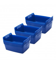 ECR4Kids Bendi-Bin Plastic Storage Bin, Large, 12-Pack (Shown in Blue)
