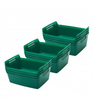 ECR4Kids Small Bendi-Bin Plastic Storage Bin, 12-Pack (Shown in Green)