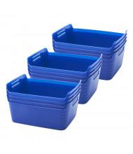ECR4Kids Bendi-Bin Plastic Storage Bin, Large, 12-Pack (Shown in Blue)