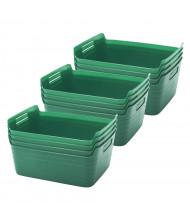 ECR4Kids Bendi-Bin Plastic Storage Bin, Medium, 12-Pack (Shown in Green)
