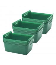 ECR4Kids Small Bendi-Bin Plastic Storage Bin, 12-Pack (Shown in Green)