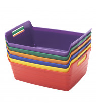 ECR4Kids Bendi-Bin Plastic Storage Bin, Small, Assorted, 6-Pack