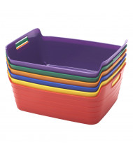 ECR4Kids Bendi-Bin Plastic Storage Bin, Medium, Assorted, 6-Pack