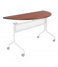 "Safco Impromptu 2068 48"" W x 24"" D Half-Round Training Table Top (Shown in Cherry, Base Sold Separately)"