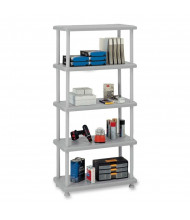 Iceberg 4-Shelf Open Storage Light-Duty Shelving (Shown in Platinum)