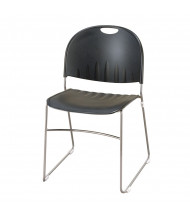 KFI Seating 2100 Sled Base Steel Stacking Chair (Black)
