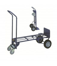 "Wesco 2-in-1 14"" Nose 700-1000 lb Load Convertible Steel Hand Trucks"