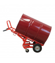 Wesco 4WDC-HBC 900 lb Load 30 & 55-Galllon Drum Hand Truck (Shown with semi-pneumatic front wheels)