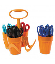 "Fiskars 5"" Blunt Tip Classpack Caddy, Assorted, 24/Pack"