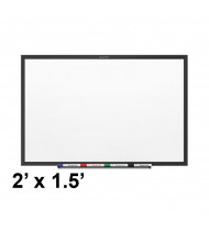 Quartet SM531B 2' x 1.5'  Black Aluminum Frame Classic Magnetic Whiteboard