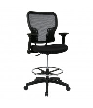 Office Star Space Seating Flip-Arm AirGrid Mesh Drafting Chair, Footring