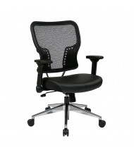 Office Star AirGrid Mesh-Back Eco-Leather Mid-Back Task Chair, 213-E37P91F3