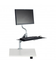 Safco 2130SL Single Monitor Desk Mount Sit Stand Workstation