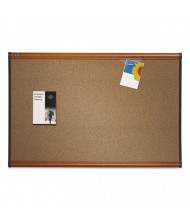 Quartet B243LC Prestige 3' x 2'  Cherry Frame Colored Cork Bulletin Board
