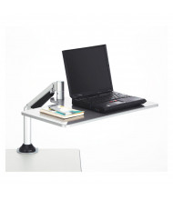 Safco 2132SL Laptop Desk Mount Sit Stand Workstation