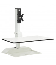Safco Rise Single Monitor Electric Sit-Stand Converter Desk Mount, White