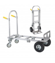 Wesco Spartan Jr 2-in-1 500/1000 lb Load Convertible Aluminum Hand Trucks