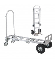 Wesco Spartan Sr 2-in-1 500/1000 lb Load Convertible Aluminum Hand Trucks
