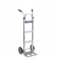 "Wesco Cobra-Lite Twin Handle 560-600 lb Load 18"" Nose Aluminum Hand Trucks"